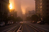 Sunlight through the Fog, California Street