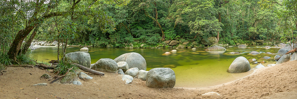 Mossman Gorge located in the World Heritage listed Daintree National Park, Queensland, Australia.