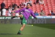 Bristol City goalkeeper Stefan Marinović (34) warming up before the EFL Sky Bet Championship match between Sheffield United and Bristol City at Bramall Lane, Sheffield, England on 30 March 2019.