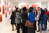 2019-02-09 YA portraits opening at AUP gallery