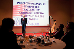 Mag. Igor Luksic during the Slovenia's Athlete of the year award ceremony by Slovenian Athletics Federation AZS, on November 12, 2008 in Hotel Mons, Ljubljana, Slovenia.(Photo By Vid Ponikvar / Sportida.com) , on November 12, 2010.