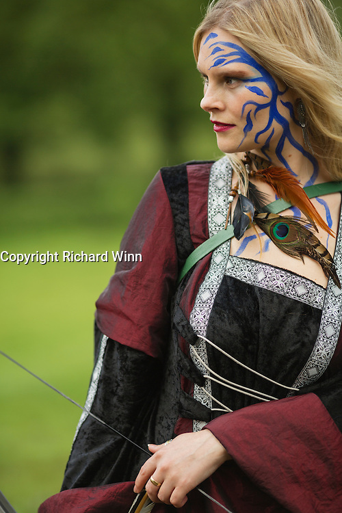 Kelly complete with bow and arrows at the Dragonslayer fantasy shoot.