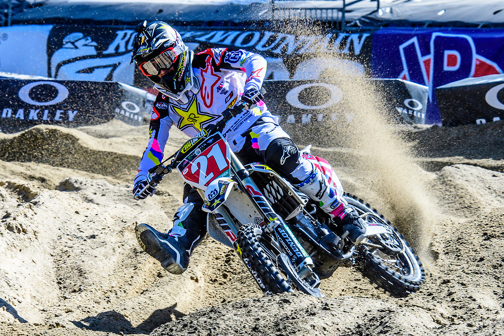April 21, 2018; Foxborough, MA. USA; Monster Energy Supercross - Foxborough Credit: William Hauser-FOX SPORTS