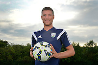 Belgian International Sebastien Pocognoli at the West Bromwich Albion training ground after signing a contract with West Bromwich Albion