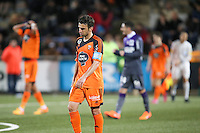 Deception Yann JOUFFRE - 18.04.2015 - Lorient / Toulouse - 33eme journee de Ligue 1<br />