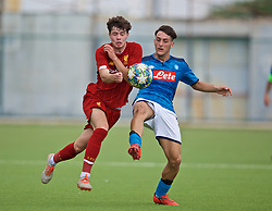 NAPLES, ITALY - Tuesday, September 17, 2019: Liverpool's Neco Williams (L) and SSC Napoli's Vincenzo Potenza during the UEFA Youth League Group E match between SSC Napoli and Liverpool FC at Stadio Comunale di Frattamaggiore. (Pic by David Rawcliffe/Propaganda)