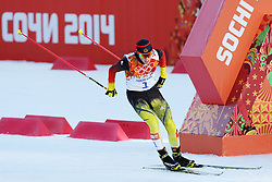 Eric Frenzel (Germany) in the men's normal hill individual ski jumping event at the XXII Olympic Winter Games in Sochi