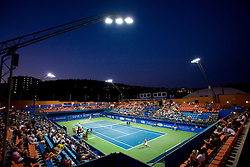 Centre court at 1st Round of Banka Koper Slovenia Open WTA Tour tennis tournament, on July 20 2009, in Portoroz / Portorose, Slovenia. (Photo by Vid Ponikvar / Sportida)