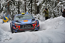 February 15, 2018 - Suede - Andreas Mikkelsen (NOR) – Anders Jaeger (NOR) - Hyundai i20 WRC (Credit Image: © Panoramic via ZUMA Press)