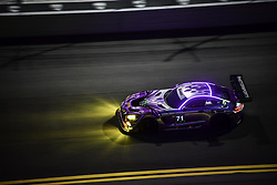 January 27, 2018 - Daytona, FLORIDE, ETATS UNIS - 71 P1 MOTORSPORTS (USA) MERCEDES AMG GT3 MERCEDES AMG GTD KENTON KOCH (USA) ROBBY FOLEY III (USA) LORIS SPINELLI (ITA) JC PEREZ  (Credit Image: © Panoramic via ZUMA Press)