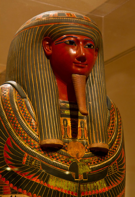 Ancient Egyptian Queen's coffin. Brooklyn Museum.