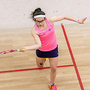 Girls u17s Georgia Adderley from Edinburgh v Maddie Orr from Central Squash Club. Images from the Scottish Junior National and under 23 Squash Championships, 5 Feb 2017 at the Aberdeen Squash & Racketball Club. Photo: Paul J Roberts   RobertsSports Photo. All Rights Reserved