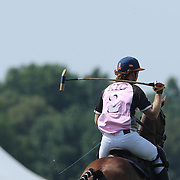 Kris Kampsen, K.I.G.  during the White Birch Vs K.I.G Polo match in the Butler Handicap Tournament match at the Greenwich Polo Club. White Birch won the game 11-8. Greenwich Polo Club,  Greenwich, Connecticut, USA. 12th July 2015. Photo Tim Clayton