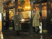 2 men outside a pub in St. James, .  London.  21 November 2016