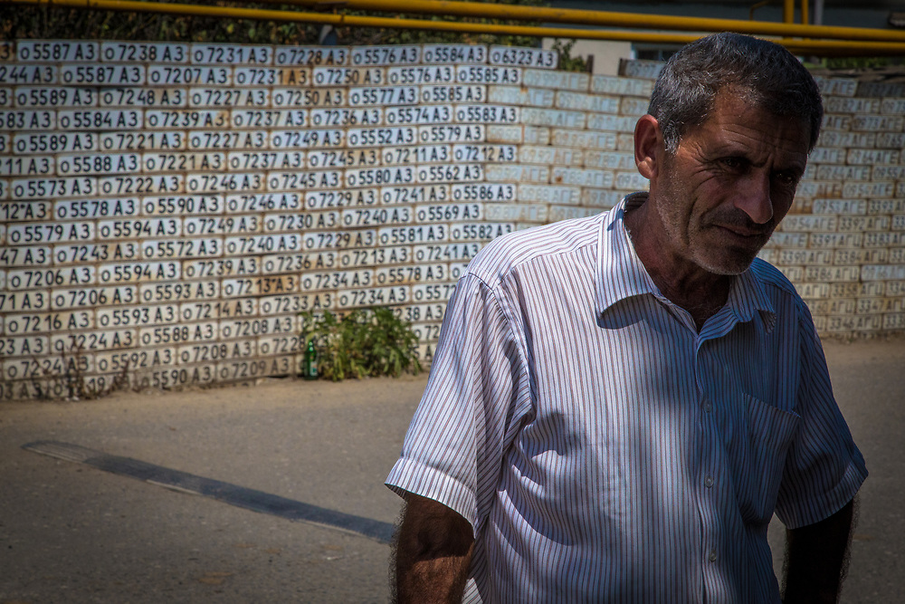 Victory is a source of pride for the Armenians due to their military weakness relative to Azeri forces during their war of independence. Nationalism and the humiliation of the enemy are sources of motivation for the population, who has suffered through many years of hardship. This wall in the village of Vank is covered by license plates taken from vehicles left behind by Azerbaijanis who fled the territory. La ultra-nationalistic ideology present in both sides is a major obstacle for finding a lasting peaceful solution to the conflict.     © Daniel Barreto Mezzano