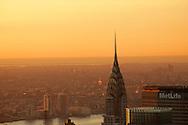 The Chrystler Building in Manhattan during sunrise.