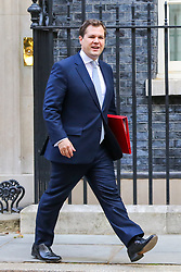 © Licensed to London News Pictures. 17/09/2019. London, UK. Secretary of State for Housing & Communities ROBERT JENRICK departs from No 10 Downing Street after attending the weekly Cabinet Meeting. Photo credit: Dinendra Haria/LNP
