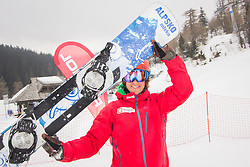 Snowboard - Crystal globe party of Zan Kosir of Sovenia when he became Snowboards World Cup Champion 2015, March 15, 2015, at Krvavec, Slovenia. Photo by Ziga Zupan / Sportida