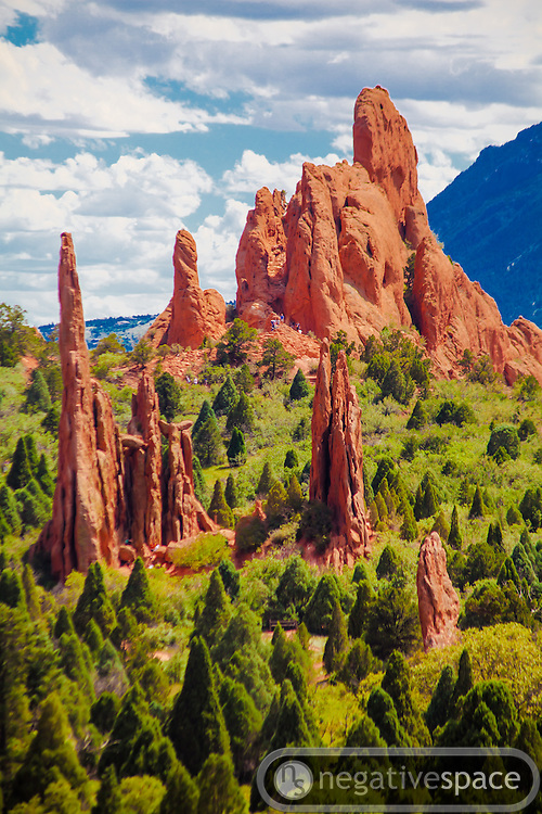 Tall peaks, Garden of the Gods, Colorado Springs, Colorado
