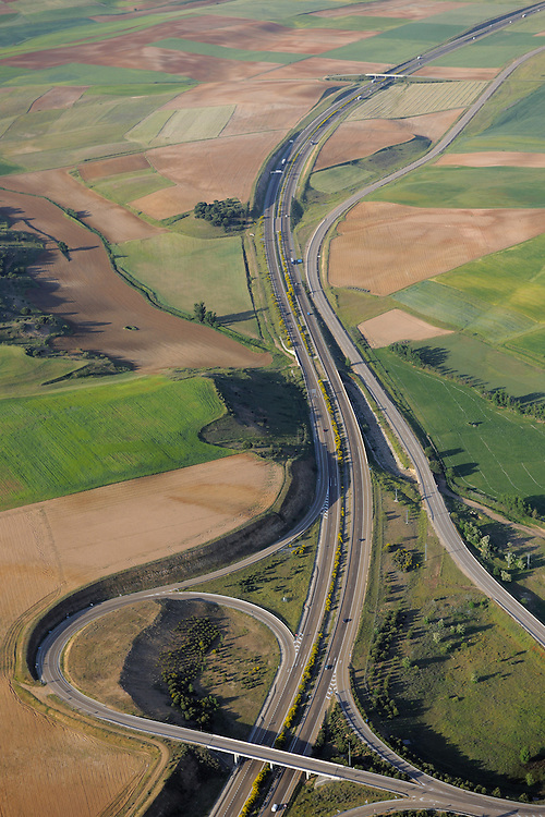 Aerial image.motorways Salamanca Region, Castilla y León, Spain