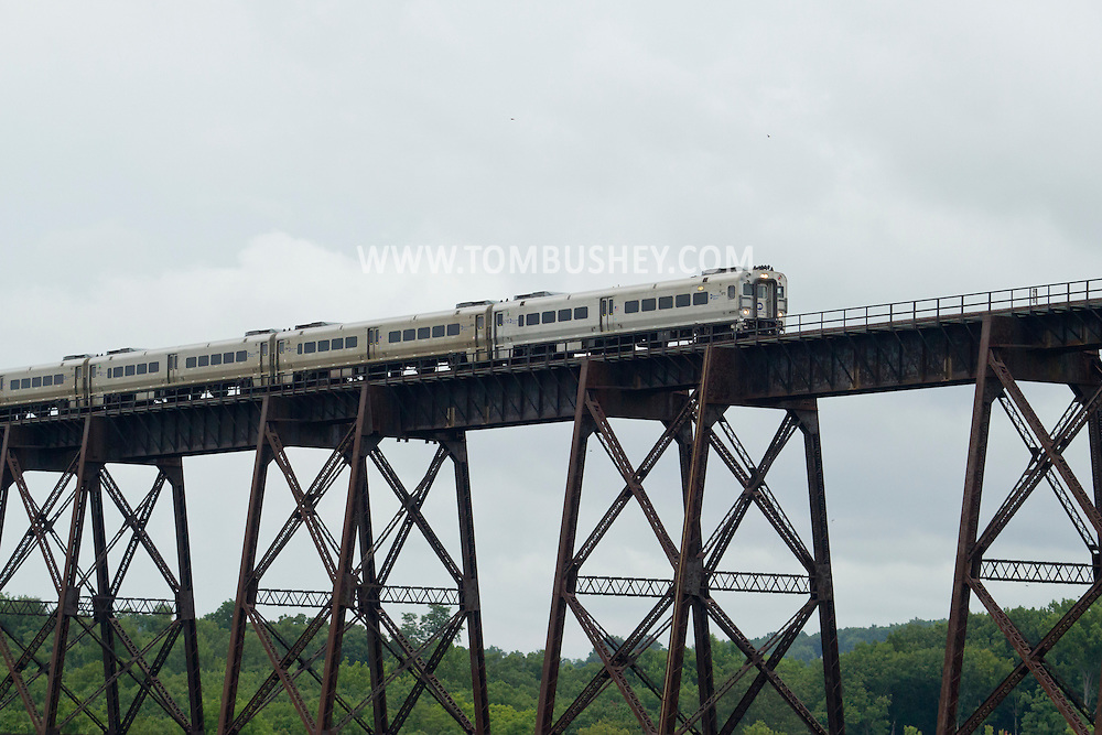 Salisbury Mills, New York - Morning at the Moodna Viaduct railroad trestle on Aug. 12, 2014.