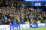 Picture by Paul Chesterton/Focus Images Ltd.  07904 640267.17/12/11.The traveling Norwich fans during the Barclays Premier League match at Goodison Park Stadium, Liverpool.