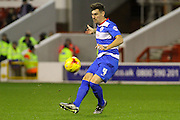 QPR defender Grant Hall launches a cross-ball during the Sky Bet Championship match between Nottingham Forest and Queens Park Rangers at the City Ground, Nottingham, England on 26 January 2016. Photo by Aaron Lupton.