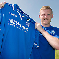St Johnstone sign defender Brian Easton...08.07.13<br /> Picture by Graeme Hart.<br /> Copyright Perthshire Picture Agency<br /> Tel: 01738 623350  Mobile: 07990 594431