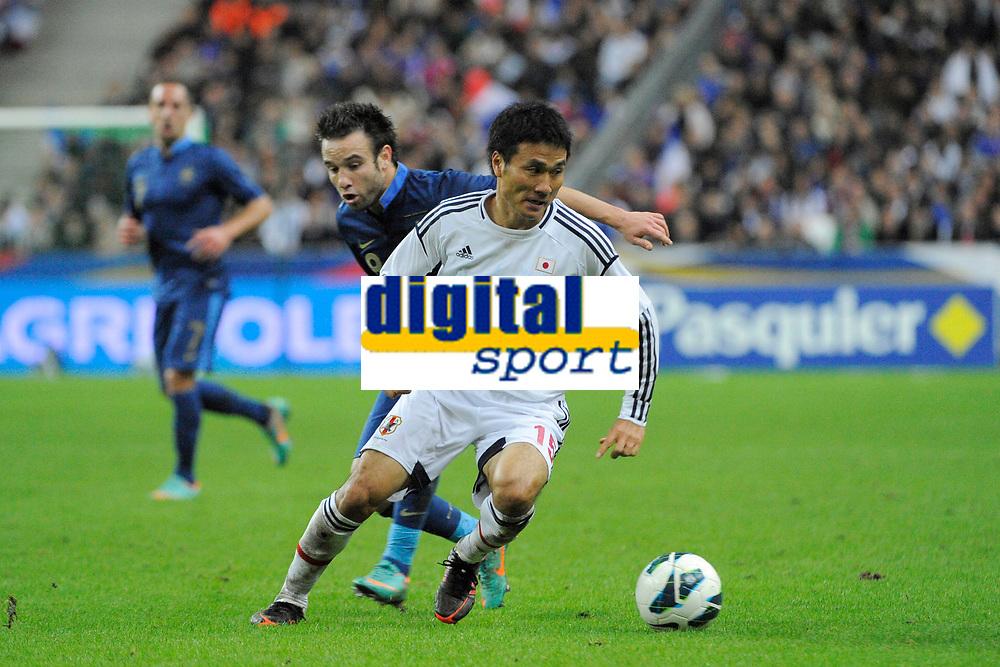 FOOTBALL - FRIENDLY GAME 2012 - FRANCE v JAPAN - STADE DE FRANCE ( SAINT DENIS ) FRANCE - 12/10/2012 - PHOTO JEAN MARIE HERVIO / REGAMEDIA / DPPI - YASUHITO ENDO (JAP) / MATHIEU VALBUENA (FRA)