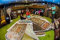 Ali Shah Carpets, Srinagar, Kashmir, Jammu and Kashmir State, India.
