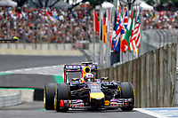 RICCIARDO Daniel (Aus) Red Bull Renault Rb10 action   during the 2014 Formula One World Championship, Brazil Grand Prix from November 6th to 9th 2014 in Sao Paulo, Brazil. Photo Frederic Le Floch / DPPI.