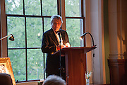 SIR TOM STOPPARD, The London Library Annual  Life in Literature Award 2013 sponsored by Heywood Hill. The London Library Annual Literary dinner. London Library. St. james's Sq. London. 16 May 2013.