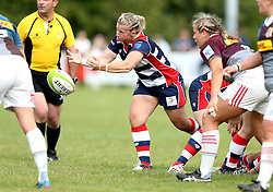 Sian Moore of Bristol Ladies passes the ball - Mandatory by-line: Robbie Stephenson/JMP - 18/09/2016 - RUGBY - Cleve RFC - Bristol, England - Bristol Ladies Rugby v Aylesford Bulls Ladies - RFU Women's Premiership