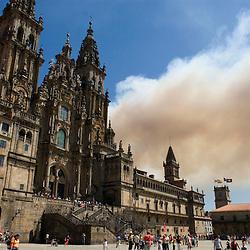 Spain, burning Galicie