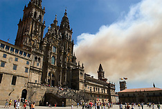Spain, burning Galicie