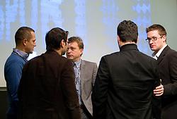 Jure Kosir of CM Sports, Matevz Zupancic of KK Union Olimpija, Bojan Ban of NK Maribor, Robert Verlic of Forward and HDD Olimpija and  Sasa Jerkovic during Day two of Sporto  2010 - Sports marketing and sponsorship conference, on November 30, 2010 in Hotel Slovenija, Portoroz/Portorose, Slovenia. (Photo By Vid Ponikvar / Sportida.com)