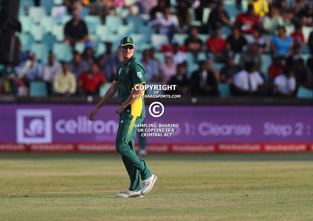 Chris Morris of the (South African Proteas) during the 2nd ODI Momentum One-Day International (ODI) series South African and Sri Lanka at Kingsmead, Durban, South Africa.1st February 2017 - (Photo by Steve Haag)