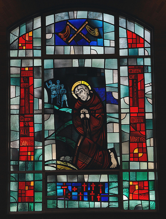 Stained glass image from Holy Spirit Church, Kimberly,  Wis. (Photo by Sam Lucero)