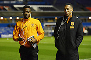 Hull City defender Moses Odubajo and Hull City defender Isaac Hayden during the Sky Bet Championship match between Birmingham City and Hull City at St Andrews, Birmingham, England on 3 March 2016. Photo by Alan Franklin.