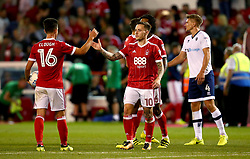 Barrie McKay of Nottingham Forest and Zach Clough of Nottingham Forest celebrate victory over Millwall - Mandatory by-line: Robbie Stephenson/JMP - 04/08/2017 - FOOTBALL - The City Ground - Nottingham, England - Nottingham Forest v Millwall - Sky Bet Championship