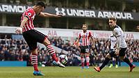 Football - 2016 / 2017 Premier League - Tottenham Hotspur vs. Southampton<br /> <br /> Maya Yoshida of Southampton clears the ball in front of Christian Eriksen of Tottenham at White Hart Lane.<br /> <br /> COLORSPORT/DANIEL BEARHAM
