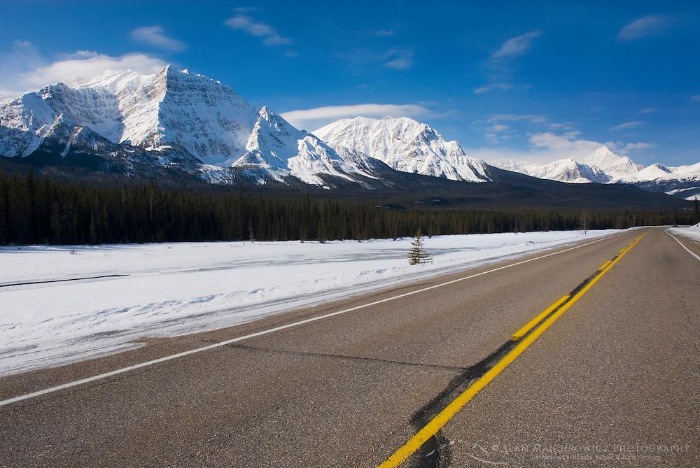 Icefields Parkway in winter, Jasper National Park Alberta Canada