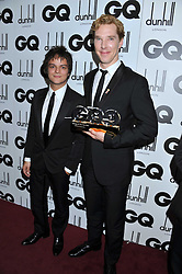 Left to right, JAMIE CULLUM and Actor of The Year BENEDICT CUMBERBATCH at the GQ Men of the Year 2011 Awards dinner held at The Royal Opera House, Covent Garden, London on 6th September 2011.