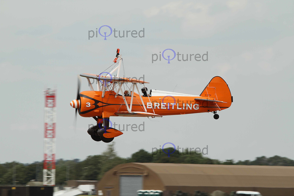 Boeing Stearman Breitling Wingwalkers The Royal International Air Tattoo, RAF Fairford, UK, 15 July 2011:  Contact: Rich@Piqtured.com +44(0)7941 079620 (Picture by Richard Goldschmidt)