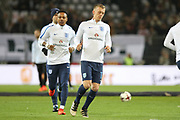 James Ward-Prowse of England in warm up during the International Friendly match between Germany and England at Signal Iduna Park, Dortmund, Germany on 22 March 2017. Photo by Phil Duncan.