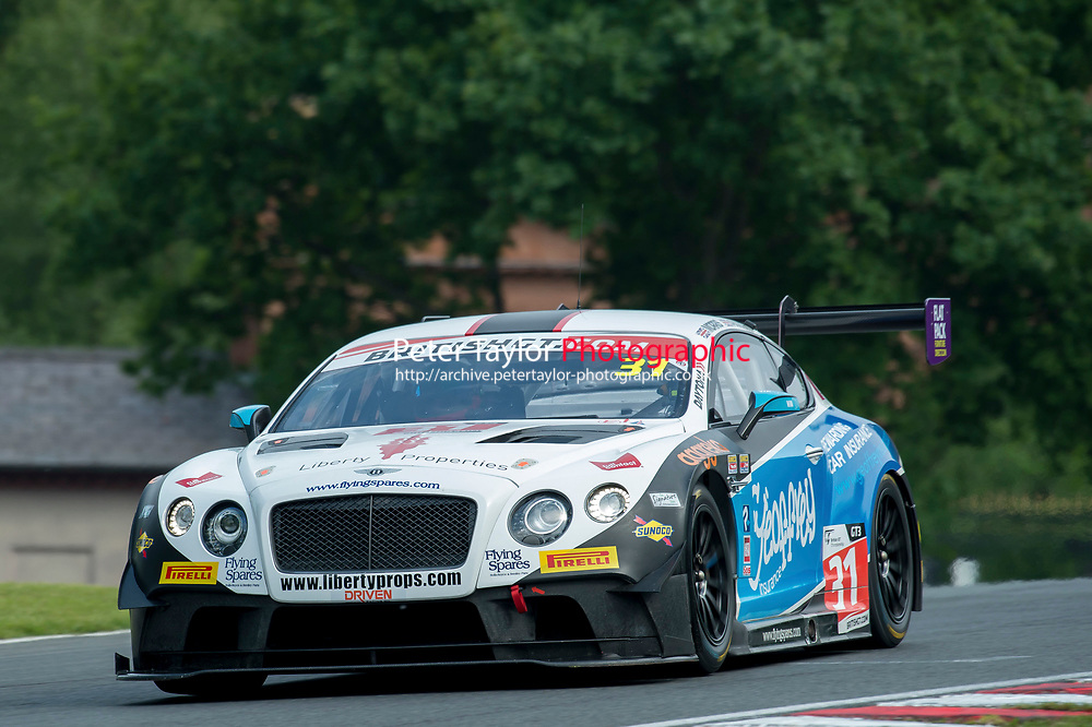 Rick Parfitt, Jr (GBR) / Seb Morris (GBR)  #31 Team Parker Racing  Bentley Continental GT3  Bentley 4.0L Turbo V8 \British GT Championship at Oulton Park, Little Budworth, Cheshire, United Kingdom. May 28 2016. World Copyright Peter Taylor/PSP.
