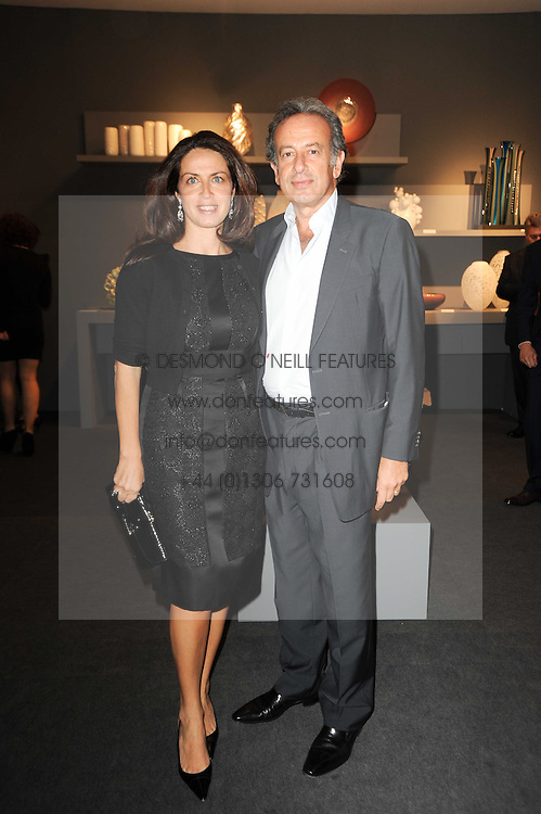 Private View of the Pavilion of Art & Design London 2010 held in Berkeley Square, London on 11th October 2010.<br /> Picture Shows:- MICHAEL & ANNA ZAOUI