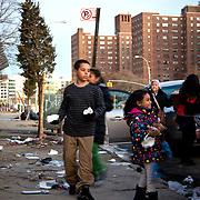 Kids pass out sandwichs to local residents Become a volunteer with &quot;Occupy Sandy&quot; HERE:<br />