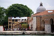 "55th Art Biennale in Venice - The Encyclopedic Palace (Il Palazzo Enciclopedico).<br /> Arsenale.<br /> Georgia Pavilion.<br /> Bouillon Group,Thea Djordjadze, Nikoloz Lutidze, Gela Patashuri with Ei Arakawa and Sergei Tcherepnin, Gio Sumbadze.<br /> ""Kamikaze Loggia"", 2013."