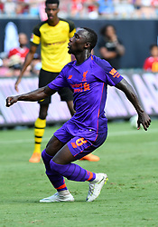 July 22, 2018 - Charlotte, NC, U.S. - CHARLOTTE, NC - JULY 22: Liverpool Naby Keita (8) during an International Champions Cup match between LiverPool FC and Borussia Dortmund on July 22 2018 at Bank Of America Stadium in Charlotte,NC.(Photo by Dannie Walls/Icon Sportswire) (Credit Image: © Dannie Walls/Icon SMI via ZUMA Press)